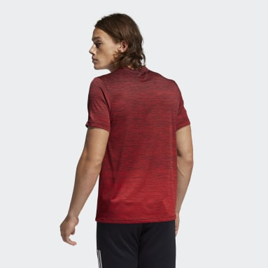Men Gym & Training Red Tech Gradient Tee