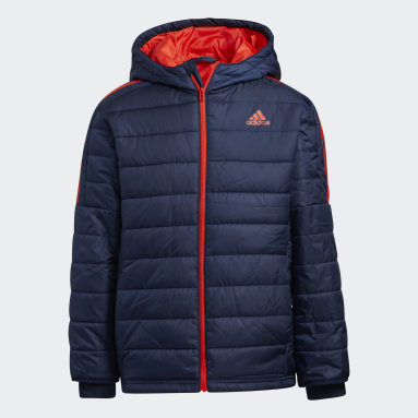 Boys Gym & Training Blue Puffer Jacket
