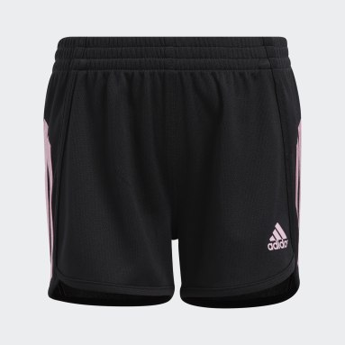 Children Training Black Stripe Mesh Shorts