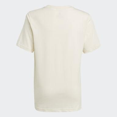 Youth 8-16 Years Originals White Graphic No-Dye Organic Cotton T-Shirt