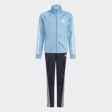 Youth 8-16 Years Gym & Training Blue 3-Stripes Team Primegreen Tracksuit