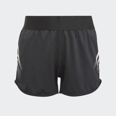Pantalón corto AEROREADY 3 bandas Negro Niña Gimnasio Y Entrenamiento