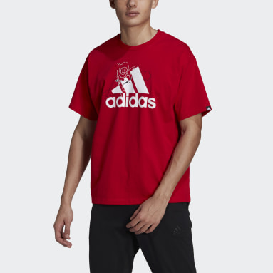 T-shirt adidas Valentine's Day Graphic (Non genré) Rouge Sportswear