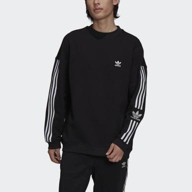 Heren Originals zwart Adicolor Classics Lock-Up Trefoil Sweatshirt