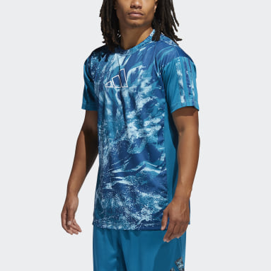 Men Basketball Blue Ball for the Oceans 365 T-Shirt
