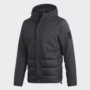 серый Пуховик Climawarm