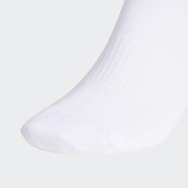 Men's Tennis White Crew Socks 6 Pairs