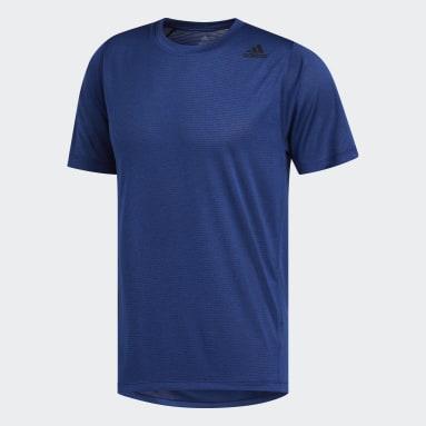 T-shirt FreeLift Tech Climalite Fitted Bleu Hommes Yoga