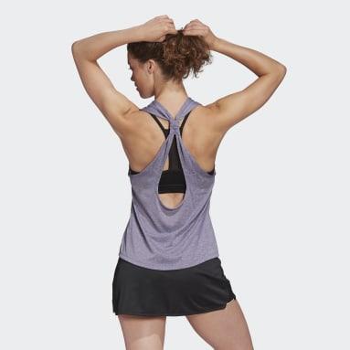 Women Tennis Purple Club Tie-Back Tank Top