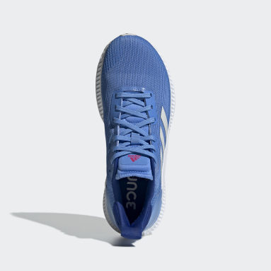 Women Running Blue Solar Blaze Shoes