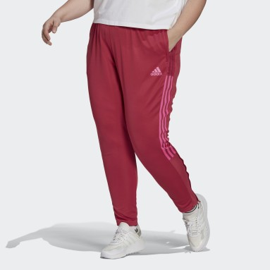 Women Football Pink Tiro Tracksuit Bottoms (Plus Size)