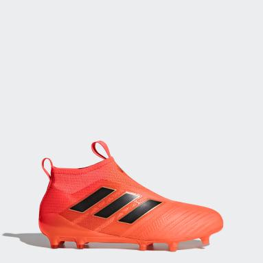 Calzado de Fútbol ACE 17+ Purecontrol Terreno Firme Naranja Hombre Fútbol