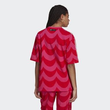 ผู้หญิง Originals สีแดง เสื้อยืดโอเวอร์ไซส์ Marimekko