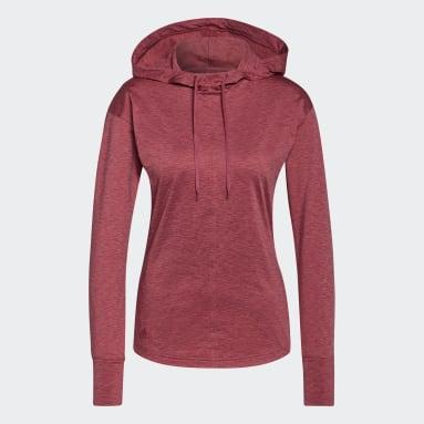 Sweat-shirt à capuche Essentials Primegreen Heathered Rose Femmes Golf