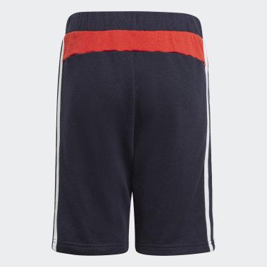 Boys Gym & Training Blue Comfort Colorblock Shorts