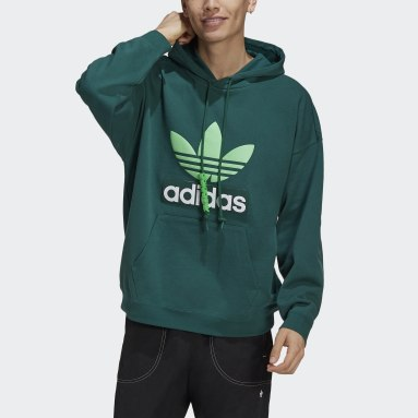 Men Originals Green Big Trefoil Hoodie