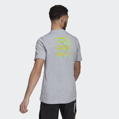Men TERREX Grey Terrex Only Carry Graphic T-Shirt