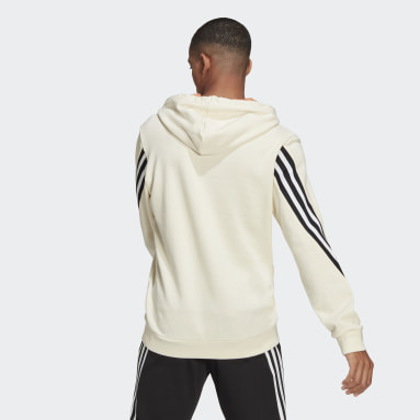 Heren Sportswear Wit adidas Sportswear 3-Stripes Tape Summer Hoodie