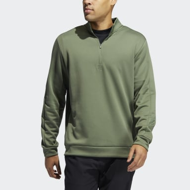 Men Golf Green Adicross Quarter-Zip Sweatshirt