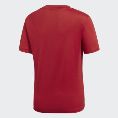 Kinderen Fitness En Training Rood Core 18 Trainingsshirt