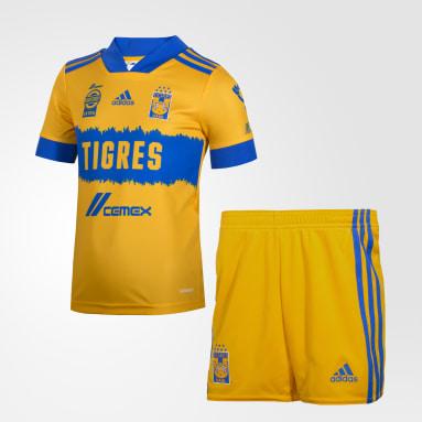 Mini Uniforme Local Tigres UANL 20/21 (UNISEX) Amarillo Niño Fútbol