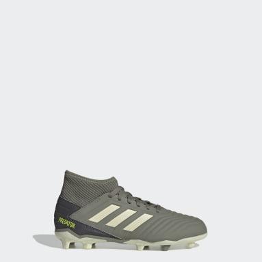 Kids 4-8 Years Football Green Predator 19.3 Firm Ground Boots