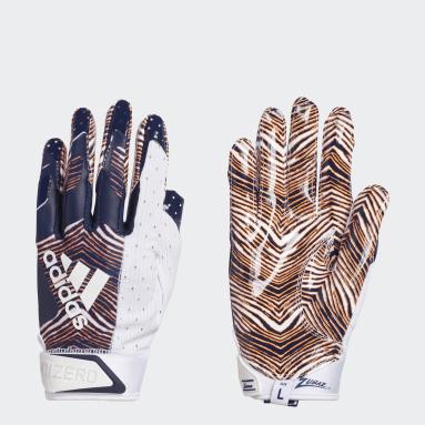 Football White Adizero 9.0 Zubaz Receiver Gloves