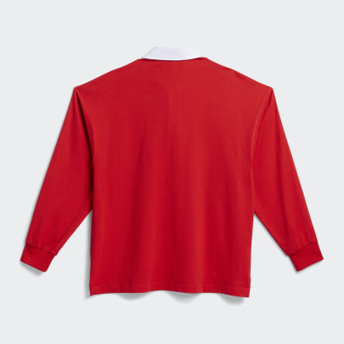 Originals Red Solid Rugby Jersey