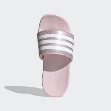 Kids Swimming Pink Adilette Comfort Slides