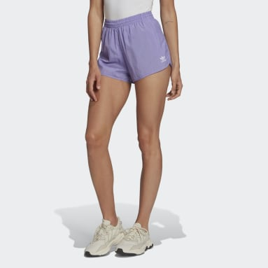 Women Originals Purple Adicolor Classics 3-Stripes Shorts