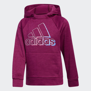 Children Training Burgundy Event Poly Fleece Hooded Pullover