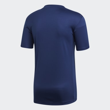 Men Gym & Training Blue Striped 19 Jersey
