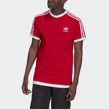 Originals Rood Adicolor Classics 3-Stripes T-shirt