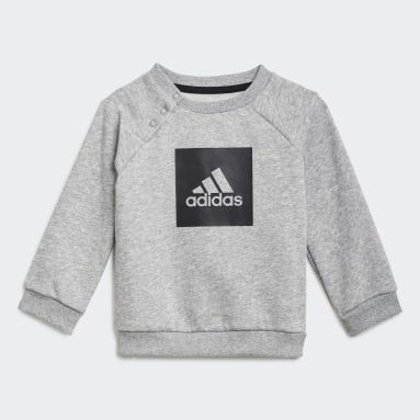 Ensemble bébés 3-Stripes Fleece Gris Enfants Fitness Et Training