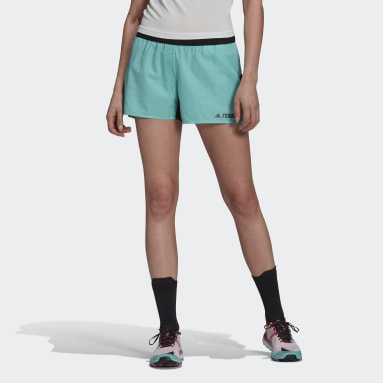 Women TERREX Green Terrex Primeblue Trail Running Shorts