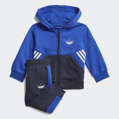 Tuta adidas SPRT Collection Full-Zip Hoodie Blu Bambini Originals
