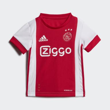 Kinder Fußball Ajax Mini-Heimausrüstung Weiß