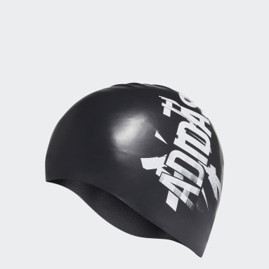 Swimming Black Silicone Swim Cap