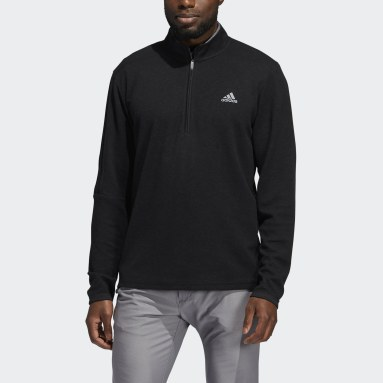 Heren Golf Zwart 3-Stripes Pullover