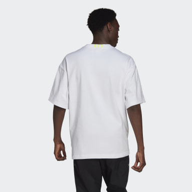 Men's Originals White R.Y.V. Oversize Silicone Badge Tee