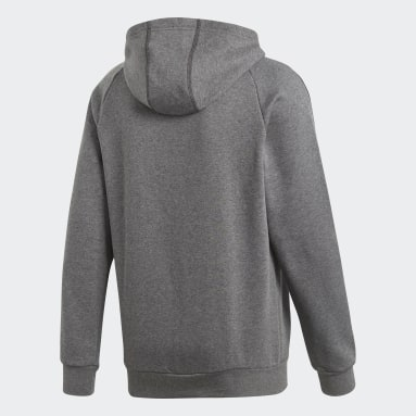 Men Gym & Training Grey Core 18 Hoodie