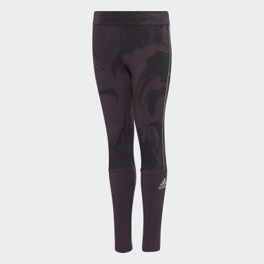 Youth Training Purple Glam On Tights
