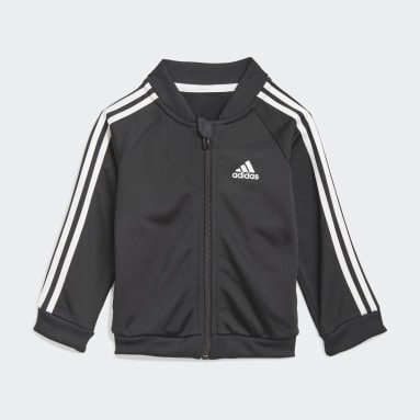 Survêtement 3-Stripes Tricot Noir Enfants Sportswear