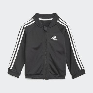 Deti Sportswear čierna Tepláková súprava 3-Stripes Tricot