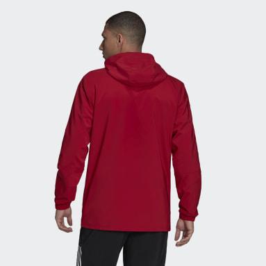 Men Football Burgundy Arsenal Tiro Presentation Jacket