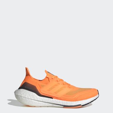 Scarpe Ultraboost 21 Arancione Uomo Running