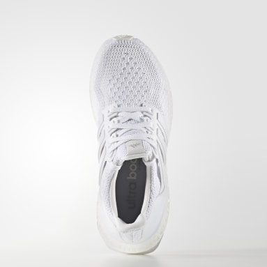 Youth Running White ULTRABOOST Shoes
