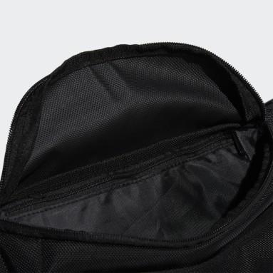 Men Training Black Classic Badge of Sport Waist Bag