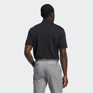 Polo Ultimate365 Solid Left Chest Negro Hombre Golf