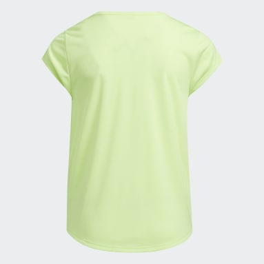 Youth Training Yellow Scoop Neck Tee
